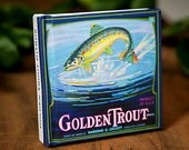 Small Journal - Golden Trout Brand  - Fruit Crate Art Print Cover