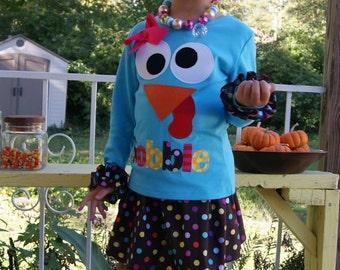 Thanksgiving Skirt Set - Infant Toddler Youth Girl Sizes