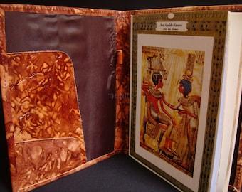 Egyptian Large  Genuine Leather Heiroglyphics Notepad And Organizer