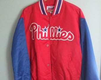 Vintage Phillies Starter Jacket Authentic Diamond Collection Men's Large