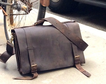 Mens Leather Briefcase 15 inch Laptop Bag Mens Briefcase