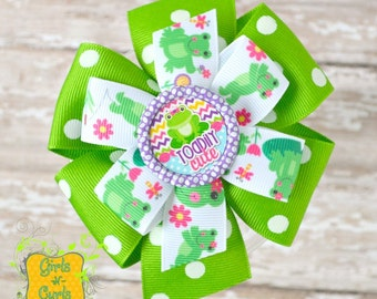 Large Stacked Pinwheel Hair Bow Toadily Cute Ready To Ship