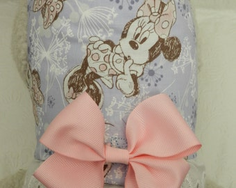 Pretty Little Princess! Pink/Lavendar Disney Theme MINNIE MOUSE Dandylion Harness with Lace & Bow. Custom made for your Cat, Dog or Ferret.
