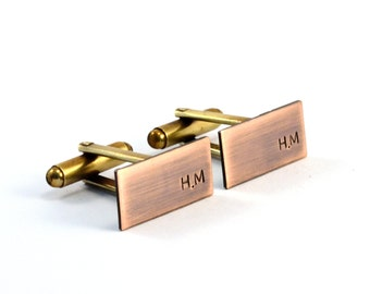 Monogram Cufflinks, Monogrammed Cuff Links, Personalised Cuff Links, Custom Cufflinks, Initials, Groom Gift