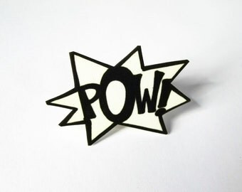 POW comic burst ring