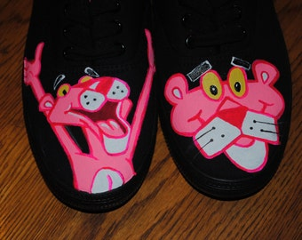 For Sale just finished painting New Pink Panther womens sneaker size 8