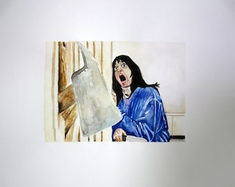 The Shining, Wendy, original watercolor