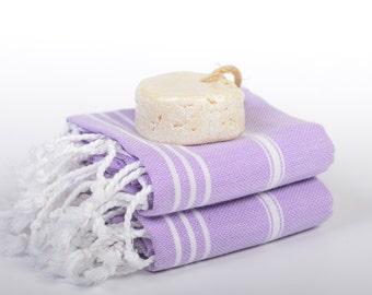 tablecloth, turkish towel, hand towel, head towel, baby bath towel, violet white, tea towel, kitchen towel, peshtemal, hammam peshkir