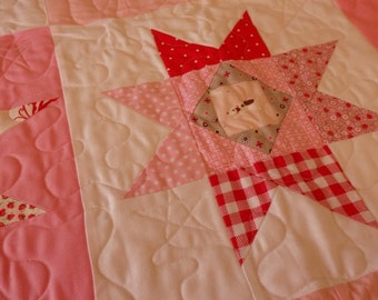 Wonky Star Charity Baby Quilt