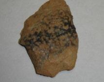 Ancient Native American Light Tan & Grey Semi-Vitrified Quartzy Sandstone Hand Made Spear or Arrow Point