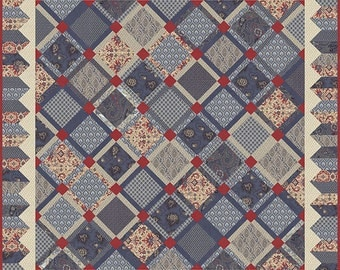 Romani Bleu Quilt Pattern from French General