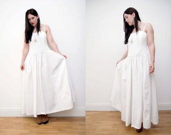 Vintage Wedding Dress Laura Ashley Dress Boho Maxi Hippie Dress