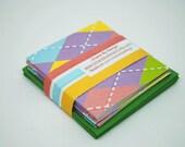Glittered Rainbow Argyle Mini Cards Set of 8