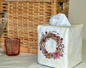 Patriotic Wreath Tissue Box Cover