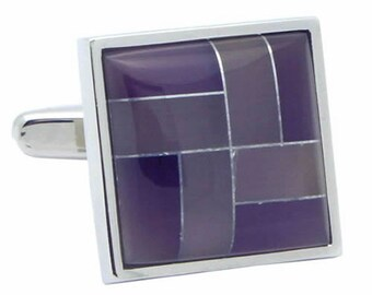 Purple Stone Cufflinks