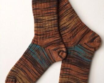 Hand Cranked Regia Ladies' Wool Socks, Strata Color
