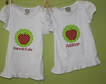 Girls back to school- apple