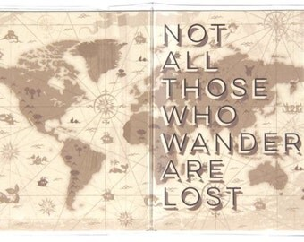 PASSPORT COVER - Not All Those Who Wander Are Lost