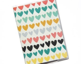 PASSPORT COVER - Heart in a row