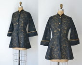 1950s Peplum Jacket / 50s Quilted Bed Jacket