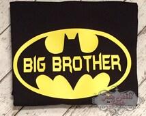 Batman Big Brother Shirt/ Big Brother Shirt/ Big Brother/ Batman Shirt/ Superhero Shirt/ Boys Shirt