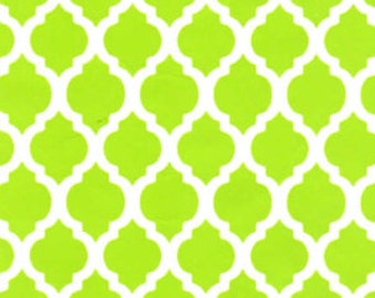 Small Quatrefoil Lime by Fabric Finders