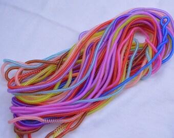 100 Elastic Telephone Cords / elastic hair ties / ponytail holders / transparent telephone cords / Plastic Hair Tie