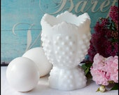 Fenton Milk Glass Hobnail Egg Cup / Perfect and Rare / Vintage Egg Cup / Milk Glass Serving / Easter Egg