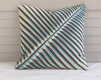 FLASH SALE - Pair of Quadrille China Seas Bahama Palm Leaf (Both Sides) Designer Pillow Covers