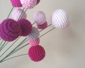 Spring Bud Ball Minimalist Bouquet/Crochet Flowers/nursery decor