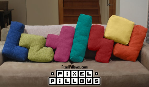 Tetris Cushions / Tetris Pillows / PixelPillows.com ;)
