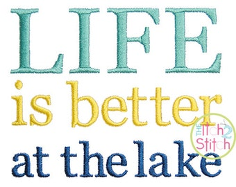 Life is Better at the Lake in 4x4, 5x5, 6x6, and 7x7 INSTANT DOWNLOAD now available