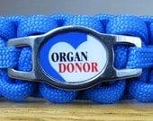 Organ Donor Bracelet, Medical Alert Bracelet, Survival Bracelet