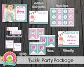 Bubble Party Package / Bubble Party Invitation / Bubble Party / Bubble Party Kit