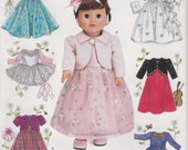 Doll Clothes Pattern for 18 Inch Doll Dress Skirt Formal Church Dress Uncut Simplicity 0638
