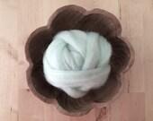 Wool roving supply for needle felting, Pastel Aqua, 1 ounce