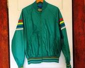 Pendleton Pen West 70s Rainbow Stripe  Windbreaker Jacket // Men's L // made in USA // MINT!