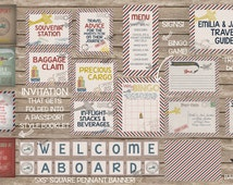 AMAZING In-Flight Airplane Precious Cargo Baby Shower Suite - Professional Prints or DIY Printing