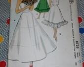 "1951 Vintage McCalls Pattern 8728 Misses Petticoat Crinoline Camisole Formal or Day Length Size Bust 34"", Waist 28"", Uncut, Factory Folds"