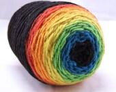 Dark Rainbow Gradient DK Handspun Yarn