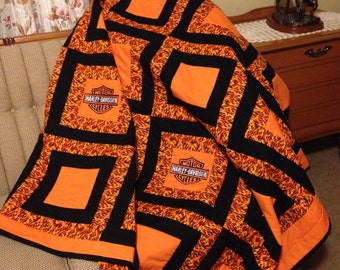 Harley Davidson Quilts On Etsy A Global Handmade And