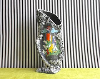LARGE Mid Century Modern Italian Biomorphic Pottery Vase San Marino