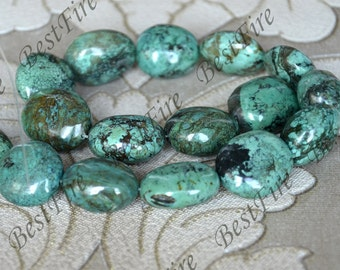 22x26mm Natural old Turquoise nugget loose beads,turquoise nugget gemstone beads,turquoise beads 15inch