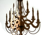 Traditional Cardboard Chandelier - Paper Chandelier, Laser Cut Chandelier, Party Chandelier, Birthday Chandelier, Wedding Chandelier
