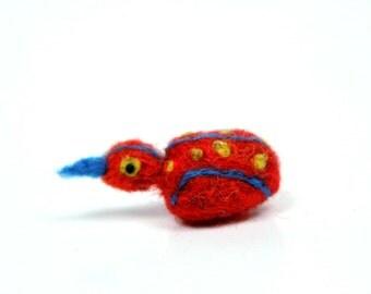 Teeny quail, needle felt