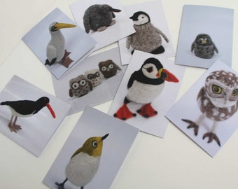 100% Recycled Greetings cards featuring needle felted Birds