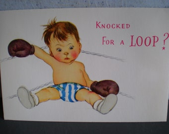 Vintage Unused Greeting Card - Get Well Soon!