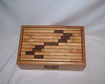 "Limited Edtion of Seven Eye catching Cherry & Walnut  Handmade  Numbered and Signed  11""x7""x4"""