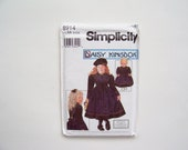 "Dress Pattern - Simplicity 8914: Child's Dress and Doll Dress for 18"" Doll - Sizes 3,4,5,6 - Girls Clothing Pattern"