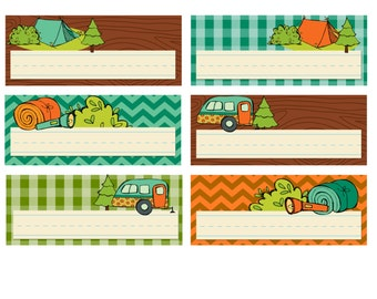 KPM Small Name card Printables Happy Campers